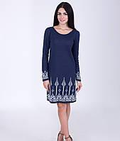 Модное женское платье с жаккардовым узором