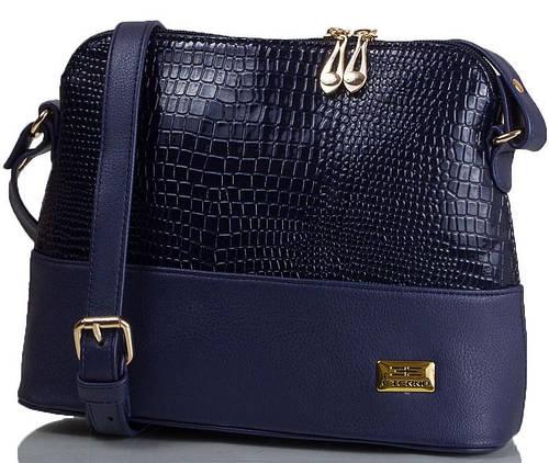 Красивая женская мини-сумка под рептилию, искусственная кожа ETERNO ETMS35286-6 синий