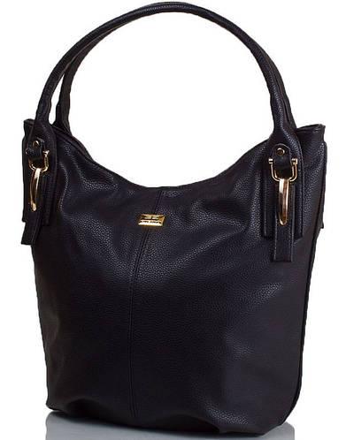 Вместительная женская сумка из качественной искусственной кожи ETERNO ETMS35266-2 черный