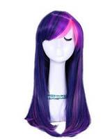 Парик искусственный little pony карнавальный фиолетовый c синим Twilight Sparkle сумеречная искорка