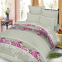 Комплект постельного белья двуспальный Бязь. Хлопок 100% (арт.Садовые цветы)
