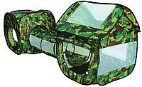Игровая палатка с тоннелем военная Камуфляж А-999-114