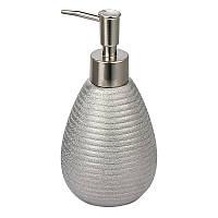 Дозатор для жидкого мыла керамический серебристый