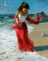 "Картина по номерам ""Прогулка по пляжу"" 40х50 см. КН1059. Идейка."