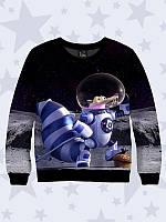 Детский Свитшот/Свитер Scrat in cosmos с оригинальным 3D-рисунком персонажа Ледникового периода.