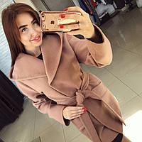 """Женское шикарное пальто """"Шарм"""" с капюшоном (4 цвета)"""