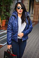 Женская весенняя курточка с воротником стойка  больших размеров
