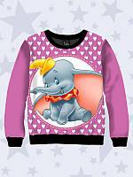 Модный 3D-свитшот/толстовка Dumbo с принтом персонажа диснеевского мультфильма, для девочки.