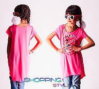 Детское платье-туника для девочки Прорези