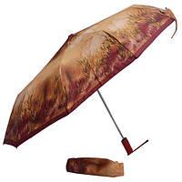 Зонт коричневый с камышами 304F-01