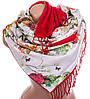 Романтичный женский двусторонний палантин из шелка и шерсти 176 на 45 см Eterno ES2707-2-6 разноцвет