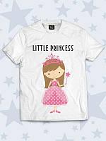 Детская летняя футболка с принтом Маленькая принцесса, для девочки.