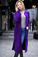 Кашемировое пальто без воротника женское