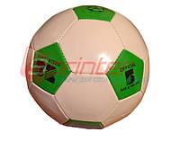 Мяч футбольный №5 детский, Цвет:зелёный с белым.