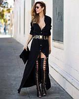 Длинное платье в пол на пугавицах