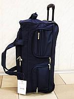 Сумка  текстильная дорожная на колесах LYS 8428 синяя