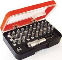 Набор бит в пластмассовой коробке с магнитным держателем Wiha W35412 31 шт (w35412)