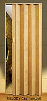 Дверь-гармошка пластиковая MELODY (светлый дуб) 2030х820 мм