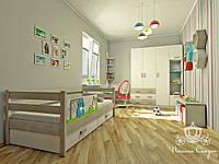 Детская комната из массива ясеня в комбинации с белым цветом