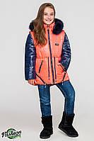Куртка-парка для девочек КД-004 Персик