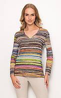 Женская разноцветная блуза из вискозы с длинным рукавом. Модель Z25 Sunwear. Коллекция осень-зима 2016-2017.