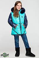 Куртка-парка для девочек КД-004 Бирюза