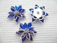 Серединки Цветочек синий 23 мм
