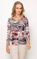 Женская блуза из вискозы с цветочным принтом, длинный рукав. Модель Z34 Sunwear. Коллекция осень-зима 2017.