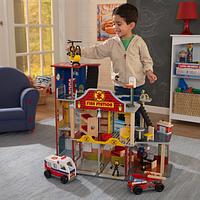 Пожарная станция Deluxe Fire Rescue Set Kidkraft 63214