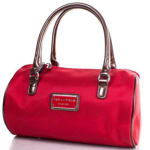 Красная сумка для леди 31,5x24x8 см., ткань Ted Lapidus FRHNY4088E14-1