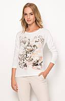 Женская блуза из вискозы с цветочным принтом персикового цвета. Модель Z57 Sunwear. Коллекция осень-зима 2017.