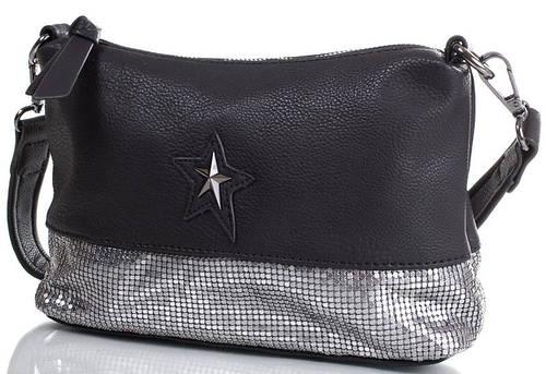 Нарядная сумка-клатч для вечера 24x16x7 см., искусственная кожа MUGLER FRH-METALIC4 черный