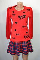 Джемпер красного цвета с принтом Х 4124/2