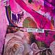 Женский шелковый двусторонний шарф 168 на 47 см Eterno ES2707-1-4 розовый, фото 4