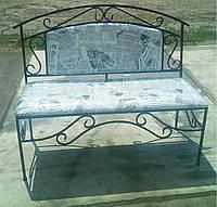 """Кованый диван """"трион"""" с большой мягкой спинкой"""