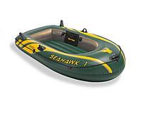 Надувная лодка одноместная для рыбалки Intex 68345 Seahawk-1