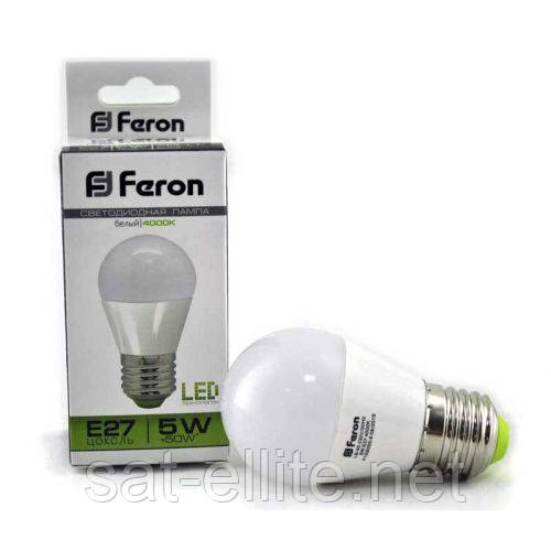 Светодиодная LED лампочка LB-95 G45 E27 5W 4000K