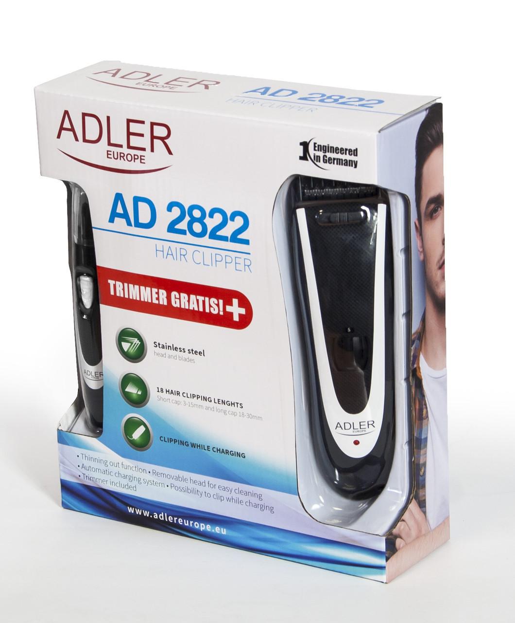 Машинка для стрижки волос триммер Adler AD 2822