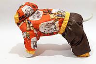 "Теплый комбинезон ""Медведи"" Vip Doggy (мальчик) капюшон размер М"