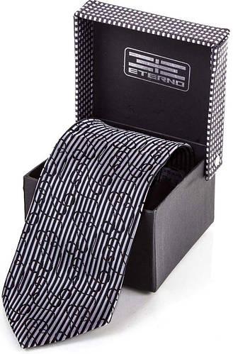 Стильный мужской широкий шелковый галстук ETERNO (ЭТЕРНО) ETEG677 серый