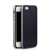 Чехол бампер Ipaky для iPhone 5 / 5S / SE чёрный