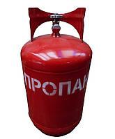 Газовый баллон с вентилем, пропановый, 27 литров, Севмаш, 70*29 см