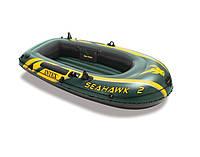 Надувная лодка одноместная для рыбалки Intex 68346 Seahawk-2