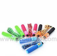 Скакалка, 280см, веревка нейлон, счетчик, мягкие ручки, 4 цвета