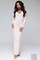 А1254 Платье ангора в рубчик длинное