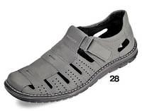 Летние мужские сандалии из натур.кожи МИДА 13979 серые