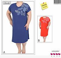 Женская домашняя туника-платье большого размера.