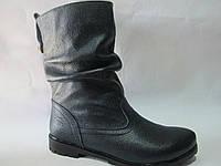 Женские зимние ботинки кожаные TRENT, р 36-40/черные