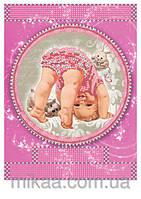 """Схема для частичной зашивки бисером 171 ― """"Метрика для девочки"""""""