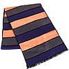 Полосатый мужской шерстяной двухсторонний шарф 174 на 31 см ETERNO (ЭТЕРНО) ES2307-13 разноцветный